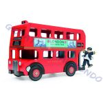 Double Decker London Bus. Autobus giocattolo di legno Le Toy Van